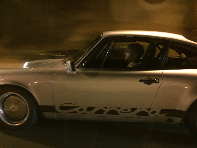 70s Porsche Carrera, late-night on PCH - A360P